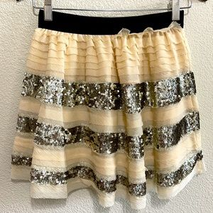 Free People Champagne Dazzle Skirt Size XS NEW